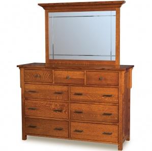Kingston Prairie Amish Dresser with Mirror Option