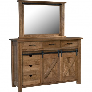 Glacier Amish Dresser with Mirror Option
