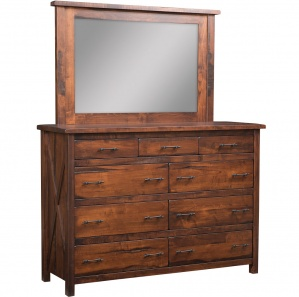 Calyxa Amish Dresser with Mirror Option