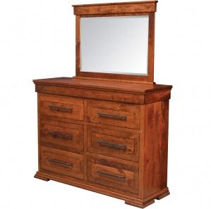 Bridgeport Amish Dresser with Mirror Option