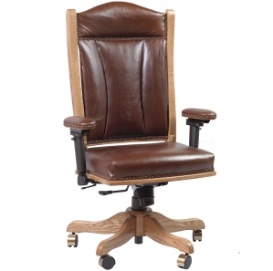 Marbridge Amish Desk Chair with Adjustable Arms