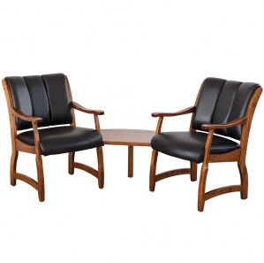 Haviland Corner Amish Office Chairs with Table