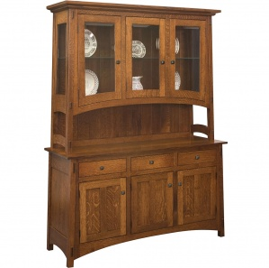 Collbran 3 Door Amish Buffet & Optional Hutch
