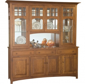 Tribecca 4-Door Amish Buffet & Optional Hutch