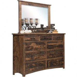 Barn Floor Mission Amish Dresser with Mirror Option