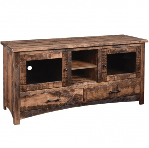 Barn Floor Mission Amish TV Stand
