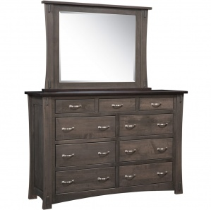 Old Tyme Amish Dresser with Mirror Option