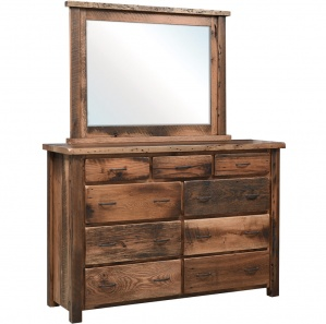 Reclaimed Post Mission Amish Dresser with Mirror Option