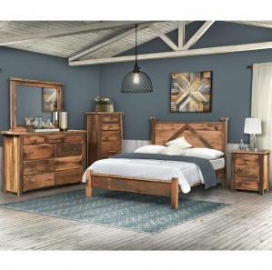 Reclaimed Post Mission Amish Bedroom Set