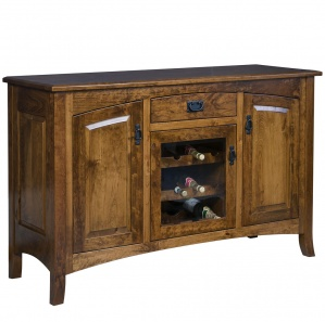 Cambria Wine Rack Amish Sideboard