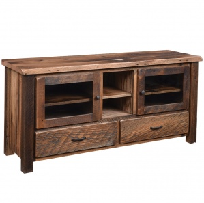 Reclaimed Post Mission Amish TV Stand