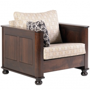 Paxton Place Amish Chair with Ottoman Option