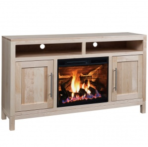 Vienna Amish TV Stand with Fireplace