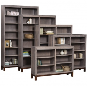Vienna Double Amish Bookcase with Door Option