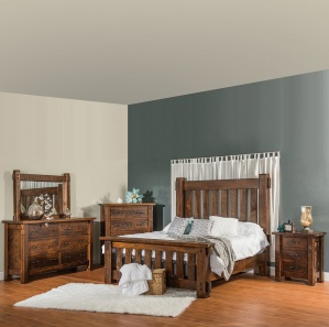 Houston Quick Ship Amish Bedroom Furniture Set - Rustic   Cabinfield ...
