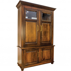 Imperial Wine Cabinet with Amish Hutch Option