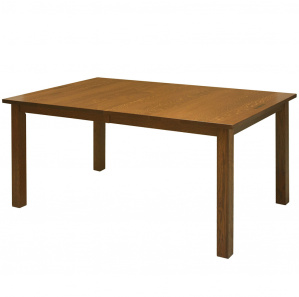 Auston Amish Dining Table with Walnut Inlays