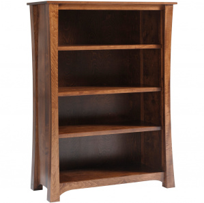 """Woodbury 48"""" Wide Amish Bookcase"""