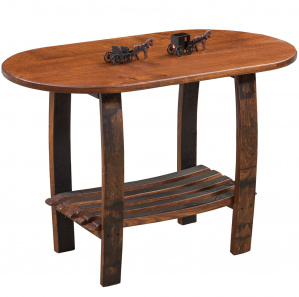 King's Inn Barrel Stave Oval Amish End Table