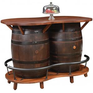 King's Inn Double Barrel Amish Bar Table