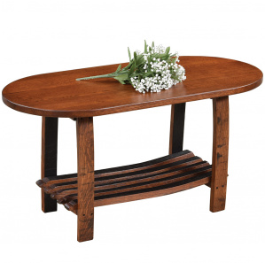 King's Inn Barrel Stave Amish Coffee Table