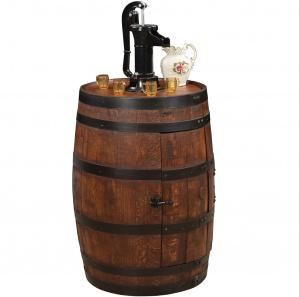 King's Inn Barrel Wet Bar with Pump