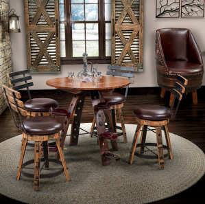 Hart & Hare Amish Pub Table Set