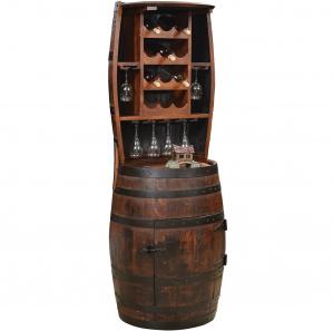 King's Inn Barrel Deluxe Amish Hutch