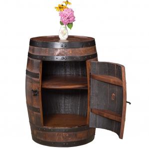 King's Inn Barrel Amish Bar Cabinet