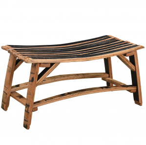 King's Inn Barrel Stave Amish Bench