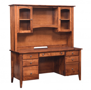 Horizons Amish Wall Desk with Hutch Option