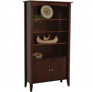 Horizons Amish Bookcase with Door Option