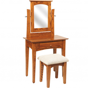 Shaker Amish Dressing Table with Mirror