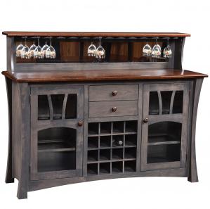 Sun Ray Amish Wine Cabinet