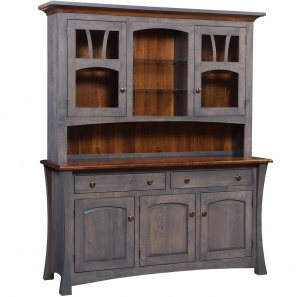 Sun Ray Amish Buffet with Hutch Option