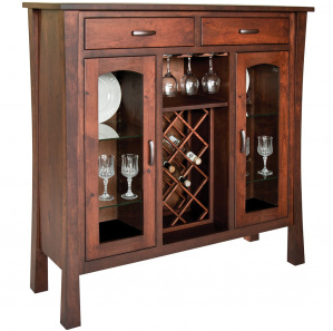 Fremont Amish Wine Cabinet