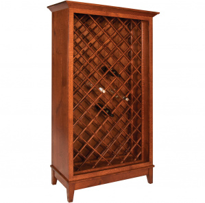 Maple Street Contemporary Amish Wine Cabinet
