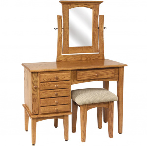 """42"""" Shaker Jewelry Amish Dressing Table with Mirror"""