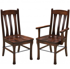 Cluff Urban Industrial Amish Dining Chairs