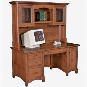 Westlake Executive Amish Desk with Hutch Option