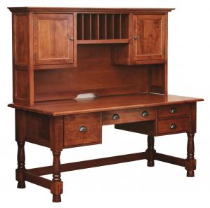 Kellerton Computer Amish Desk with Hutch Option