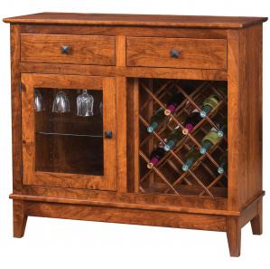 Maple Street Amish Wine Cabinet