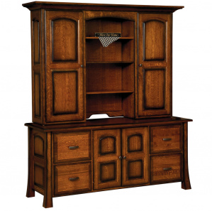 Olde Century Amish Credenza with Hutch Option