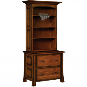 Olde Century Amish Lateral File with Bookcase Top Option