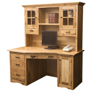 Alameda Wedge Style Amish Computer Desk with Hutch Option