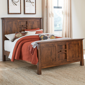 Mission Style Amish Beds And Headboards Amish Bedroom Cabinfield Fine Furniture