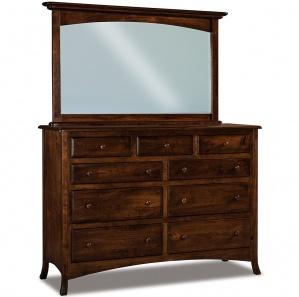 Summerfield 9 Drawer Dresser with Arched Drawer & Optional Mirror