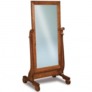 Olde Sleigh Beveled Cheval Mirror