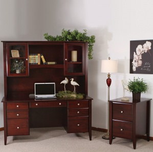 Horizons Amish Office Furniture Set & Optional Hutch