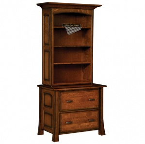 Olde Century Lateral File & Optional Bookcase Top